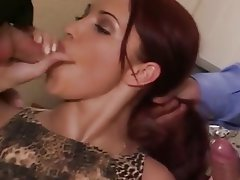 Anal Blowjob Double Penetration Old and Young Threesome