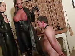Leather domination free clips