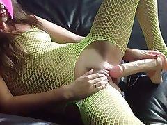 Amateur Creampie Double Penetration Stockings