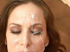Bukkake Cumshot Facial Interracial MILF