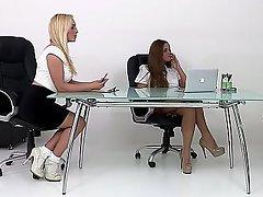Babe, Lingerie, Redhead, Secretary