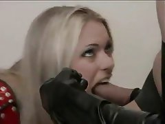 Blonde Blowjob Latex