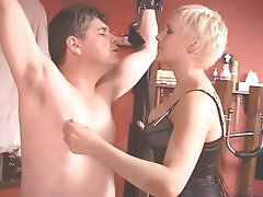 BDSM Blonde CFNM Femdom Strapon