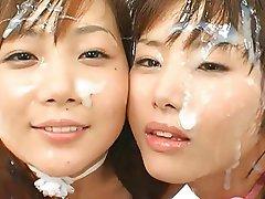 Asian Bukkake Facial Japanese