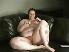 BBW Big Boobs Masturbation Redhead