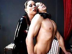 BDSM Femdom German Latex Strapon