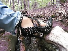 Cumshot, German, Outdoor, Foot Fetish