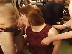 British Group Sex MILF Redhead
