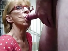 Blonde Blowjob Cumshot Granny Old and Young