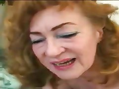 Granny Mature Pantyhose Old and Young Redhead