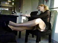 Blonde Foot Fetish Secretary Softcore