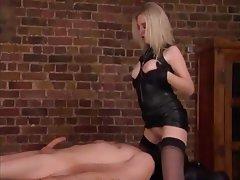 BDSM British Femdom Handjob Latex