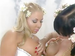 Babe Big Boobs Blonde Lesbian Massage