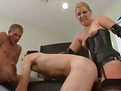 Anal Bisexual Blowjob Strapon Threesome