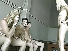 Blonde Bukkake Gangbang Group Sex