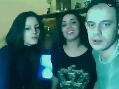 Amateur Spanish Threesome Webcam