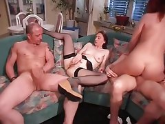 Double Penetration German Group Sex MILF