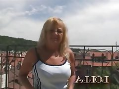 Blowjob Cumshot Granny Interracial Old and Young