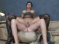 Facial MILF Old and Young Stockings