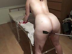 Amateur Bondage Nerd Spanking