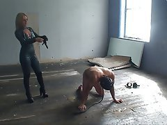 BDSM Blonde CFNM Femdom Latex