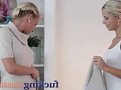 Blonde Lesbian Massage