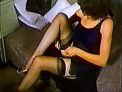 Brunette Pantyhose Softcore Stockings Vintage