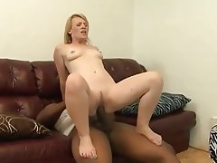 Blonde Creampie Interracial MILF