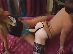 Anal Strapon Threesome