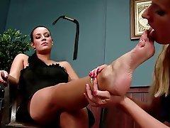 lesbian foot mistress