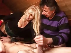 Amateur Bisexual Blonde Mature Threesome