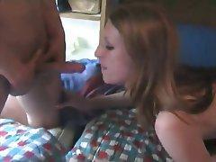 Amateur Cumshot Facial Threesome