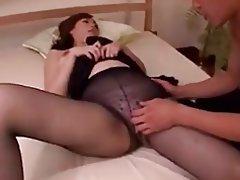 Brunette Mature MILF Pantyhose