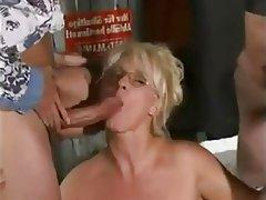 Amateur Blowjob Facial Granny