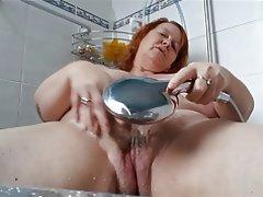 Amateur BBW British Mature Shower