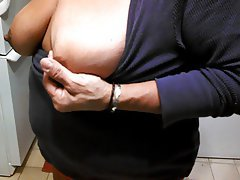 BBW Big Boobs Mature Nipples