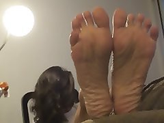 Babe Brunette Foot Fetish