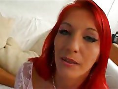 Anal French Redhead Group Sex Threesome