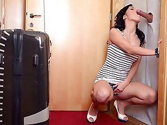 Blowjob Brunette Gloryhole
