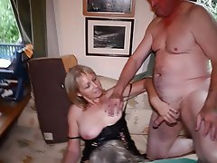 Blonde with pink dildo