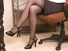 Masturbation Brunette Mature Pantyhose