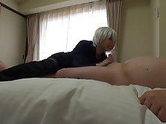 Asian Blowjob Cosplay Handjob