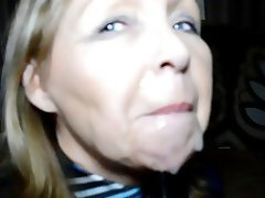 Amateur British Facial MILF
