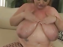 BBW Blonde Facial Hardcore