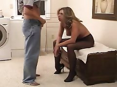 Amateur Blonde Blowjob Stockings