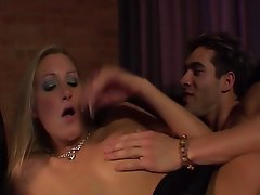 Blonde British Double Penetration Threesome
