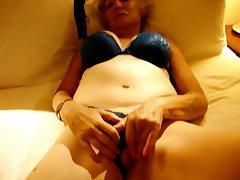 Granny Lingerie Masturbation