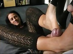 German milf legs footjob
