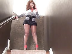 Amateur Big Boobs MILF Pantyhose Redhead
