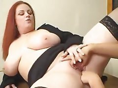 Big Boobs, Lesbian, Old and Young, Redhead